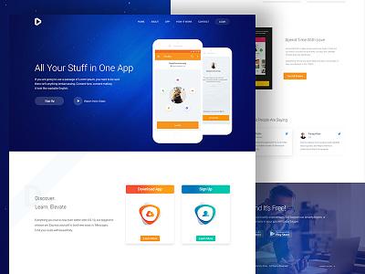 App Landing Page Concept website web ux ui product landingpage landing gradient colour color clean app