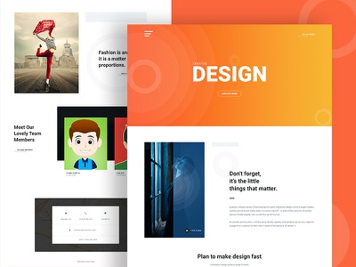 Creative Design Agency Website website ux ui minimal landing page industrial design creative company colorful branding agency