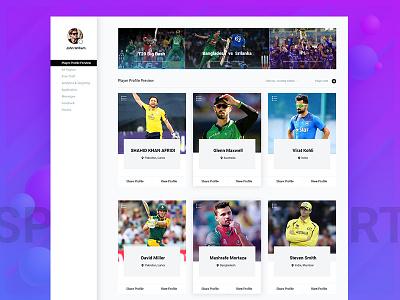 Sports Events Web Application UI - Concept website webdesign seo presentation mobile minimal marketting landing ui design clean app