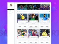 Sports Events Web Application UI - Concept