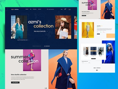 Azmi's Collection abuse report webdesign ux ui procut fashion eshop ecomerce detail cart