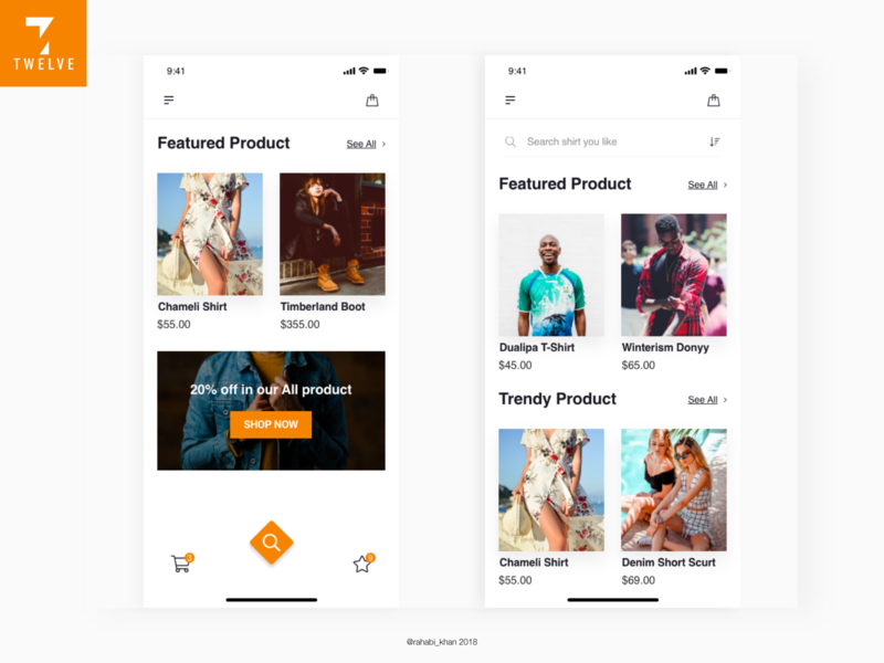 E-commerce Mobile App Concept cretive app minimal app typogaphy ux design ui design creative app design trendy design mobile app design ecommerce app