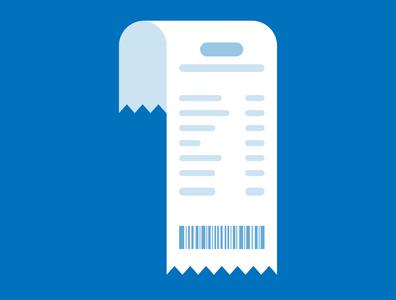 Bill flat minimal design blue flat design bill sign design illustration vector