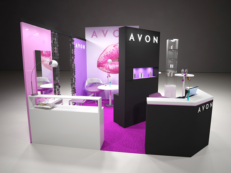 Cosmetic Exhibition Stand Design : Avon u expo stand by artboard prague dribbble dribbble