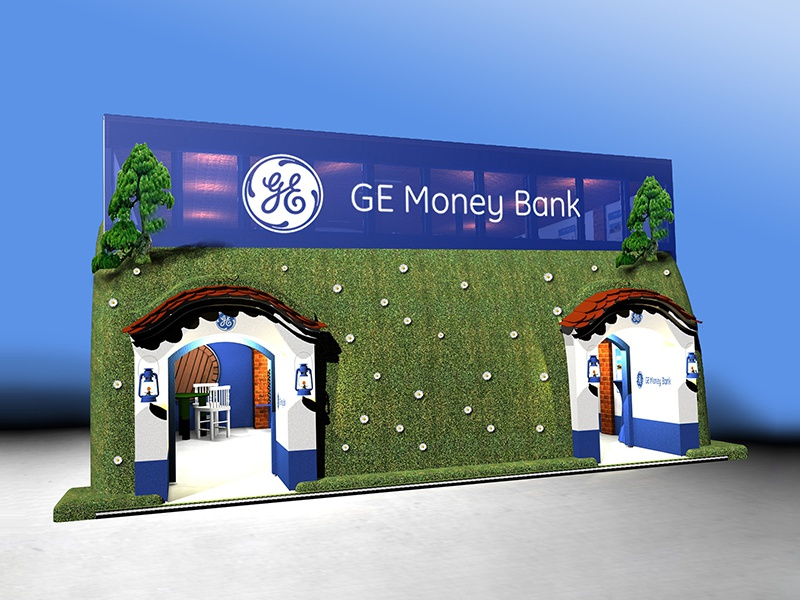 GE Money Bank – expo stand cellar wine promotion stand expo exhibition advertising concept interior