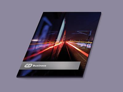 Ceske drahy – office file brand inspiration dark train cover folder file design office