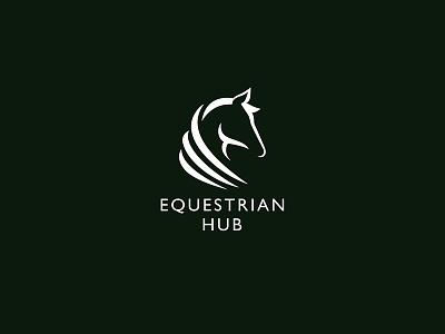 Equestian Hub – logotype branding identity symbol brand logo illustration clean simple logotype horse