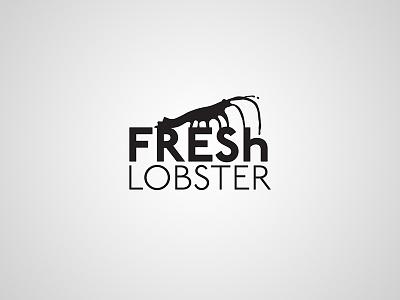 Fresh Lobster – logotype typography typo splash identity branding brand symbol design logotype