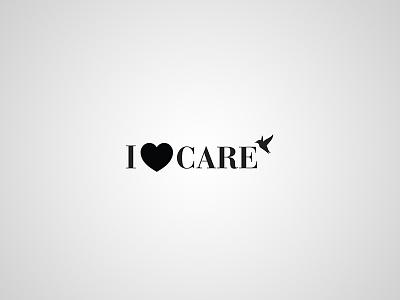 I love care – logotype brand typography typo branding luxury clean design logotype logo care love