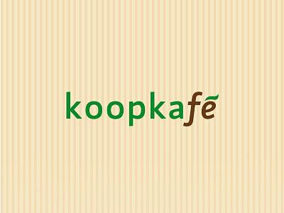 Koopkafé – logotype drink typography typo simple green branding design logotype logo caffee