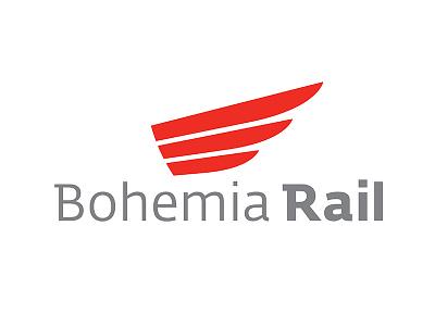 Bohemia Rail logotype typo clear simple bohemia rail train branding design
