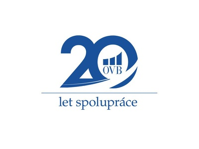 Ovb old clear anniversary years blue typo logotype ovb 20 design