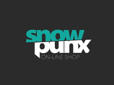 Snow Punx simple clear branding typo font cut green logotype shop punx snow