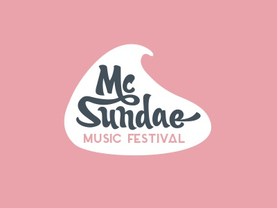 MCD – music festival Mc Sundae design mcd festival ice-cream summer stage music logotype