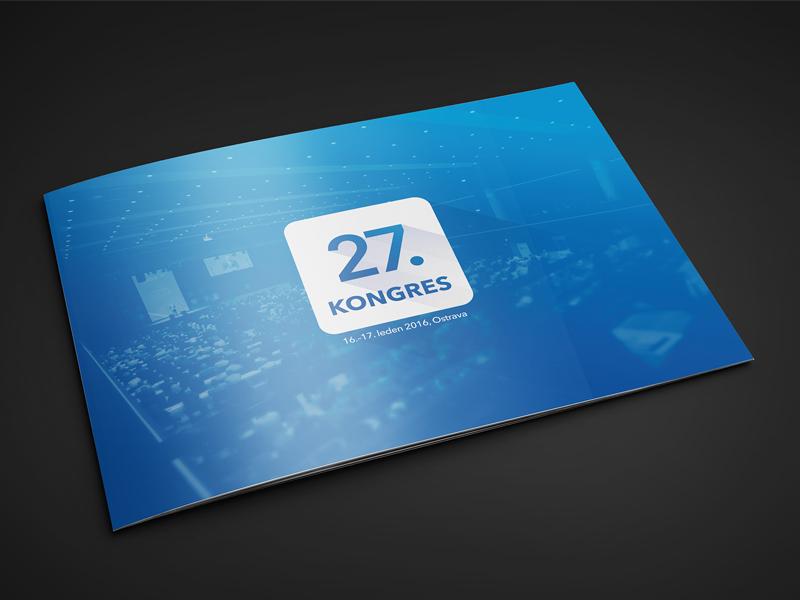 ODS – brochure for 27. congress politics a4 logotype congress design landscape brochure