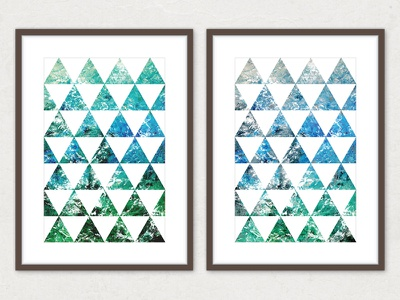 Triangulation poster graphics triangle triangles