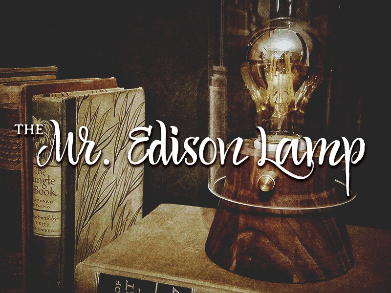 The MR. EDISON LAMP led lamp turning lathe mr edison custom industrial design secret project woodworking walnut