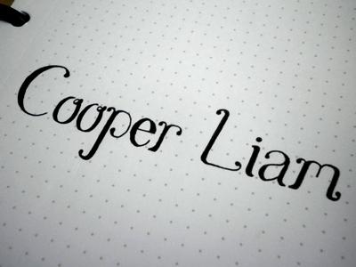 Cooper Liam boy baby child parent cooper liam son born
