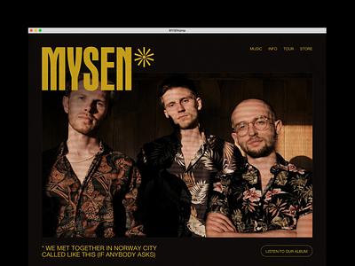 MYSEN Band electronic music mystery bands band merch branding music website music art boysband mysen typogaphy website musician music band