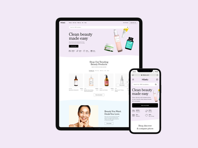 Nibelu - Beauty Marketplace 🧴 typography ecommerce design ecommerce shop beauty store beauty product marketplace store design storestudio cosmetics beauty shopify design store branding ecommerce