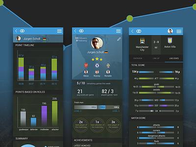 Fantasy Football app game soccer mobile design mobile app ux ui fantasy football