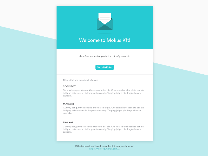 Invitation Email Template by Zsófia Czémán - Dribbble