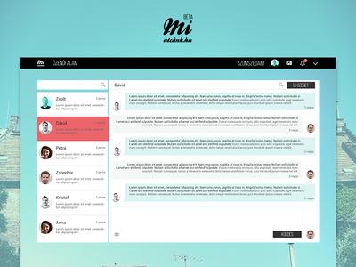 Chat UI socail media ui desktop chat