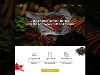 Hungarian Cooking School Landing Page landingpage school cooking ui website landing