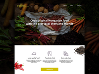 Hungarian Cooking School Landing Page