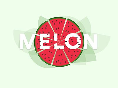 Melon Illustration vector fruits typography melon illustration drawing