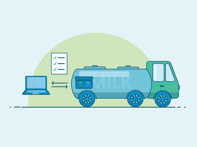Milk Tanker  vector system illustration food industry tanker milk