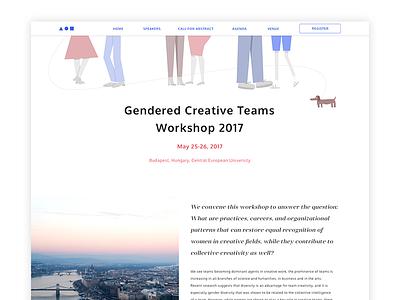 Gendered Creative Teams Workshop 2017 workshop conference illustration visual design ux design ui design landing page