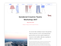 Gendered Creative Teams Workshop 2017