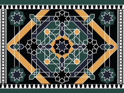 Alhambra Tiles illustrator architecture vector granada alhambra tiles span illustration