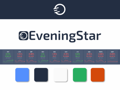Branding and UI for crypto investment website Eveningstar.io