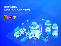 6 Isometric for Cryptocurrency , Analytic and Data Server