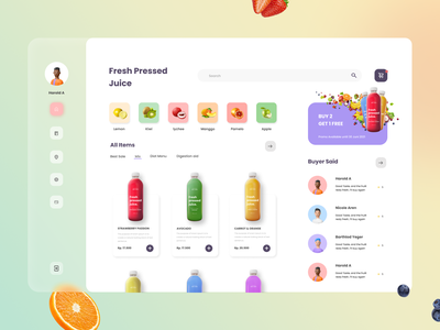 Fresh Juice Web Design delivery health website beverage design drink fruits juice branding header ecommerce dashboard ui  ux landing page web design ui design design illustration ui