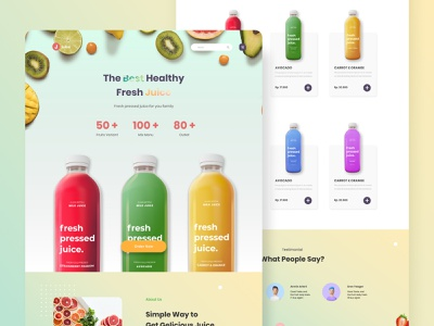 Fresh Juice Website Design website concept dashboard design ecommerce health fruits juice ui  ux ui design website web design app typography ux branding design header landing page ui