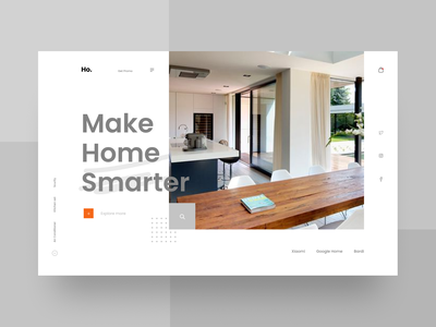 Smart Home Website Design - Plainthing Playoff website head shop online store clean ui smart device smart home home screen architecture ui design web design icon typography ux branding design header landing page ui