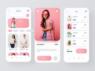 Online Shop Mobile App models pink clean design shopping app fashion fashion app woman marketplace online store online shop app design mobile design mobile app ui design ux branding design ui