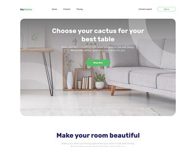 MyCactus - Landing Page Exploration covid 19 office minimalism cactus workspace plant hobby online shop ecommerce web design website design uiux ui design branding design after effects landing page animation ui