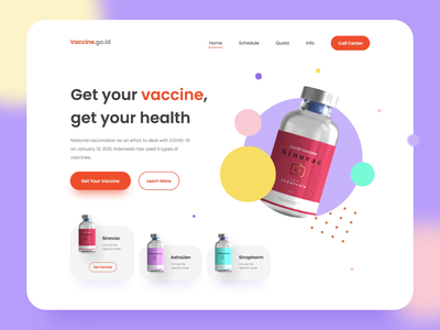 Covid 19 Vaccine Header Concept interaction motion graphics animation medical who live style health covid19 vaccine website design website web design landing page uiux header ui