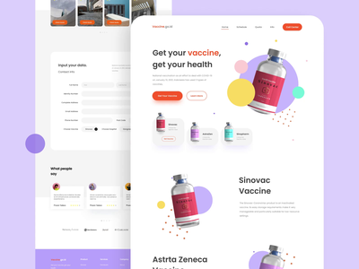 Covid 19 Vaccine Website Concept live style health covid 19 vaccine website design webdesign website uiux uidesign branding design motion graphics after effects landing page animation ui