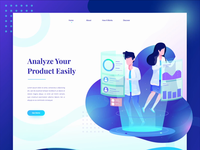 Product Analyze Landing Page Animation
