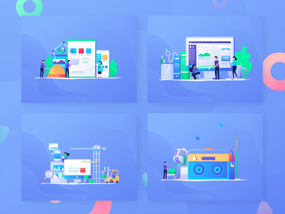 Digital Marketing Animation popular marketing social media branding design flat 2d animation vector character motion graphics header landing page after effects ui illustration gif animation