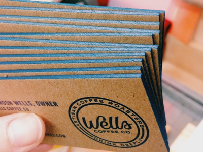 Wells Coffee Company Business Cards