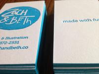 Zach & Beth Business Cards