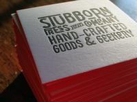 Stubborn Press & Company Business Cards