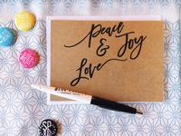 Letterpress + Risograph = Christmas Card