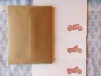 Classic Motorcycles Letterpress Note Cards